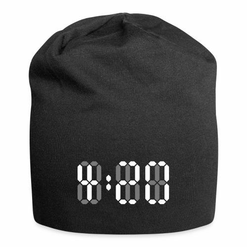 420 Clock Digital Uhr 4:20 Cannabis Hanf Kiffen - Jersey-Beanie