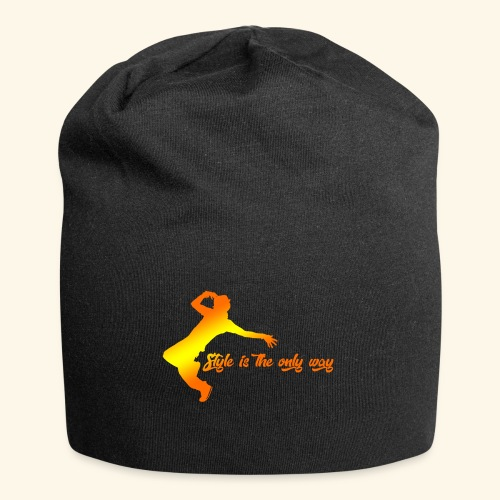 Style is the only way - Beanie in jersey