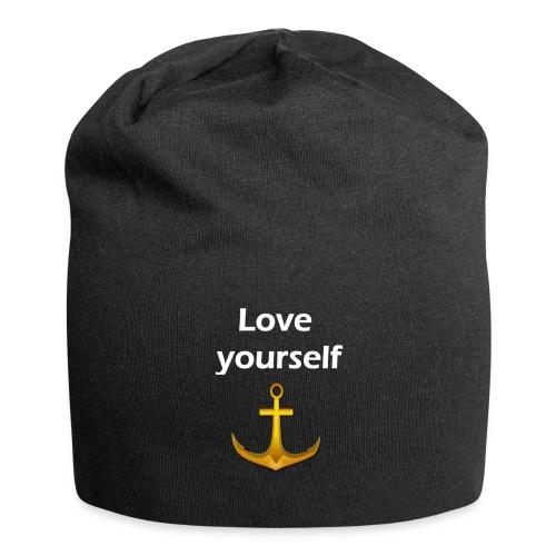LOVE YOURSELF - Gorro holgado de tela de jersey
