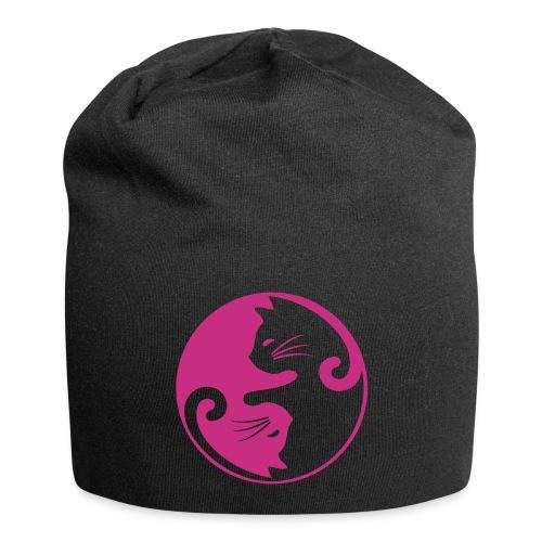 Vorschau: yin yang cat - Jersey-Beanie