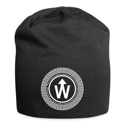 wit logo transparante achtergrond - Jersey-Beanie