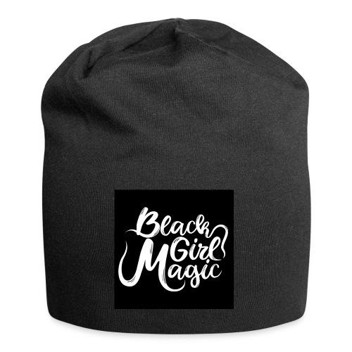 Black Girl Magic 1 White Text - Jersey Beanie