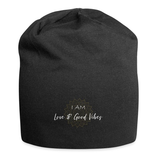 I am love and good vibes white gold - Jersey-Beanie