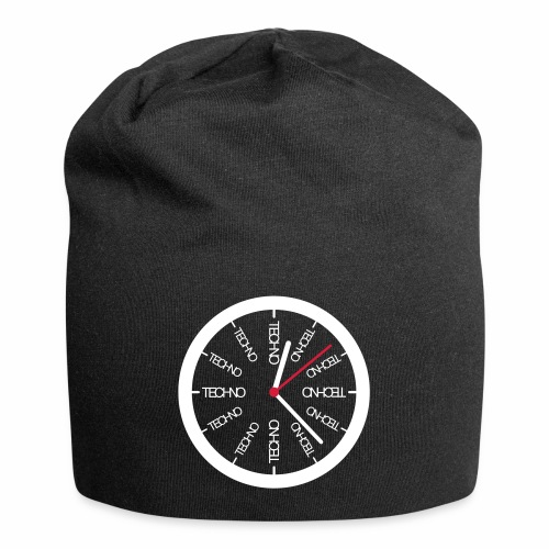 Techno Uhr Clock Rave All Day Clubbing DJ Watch - Jersey-Beanie