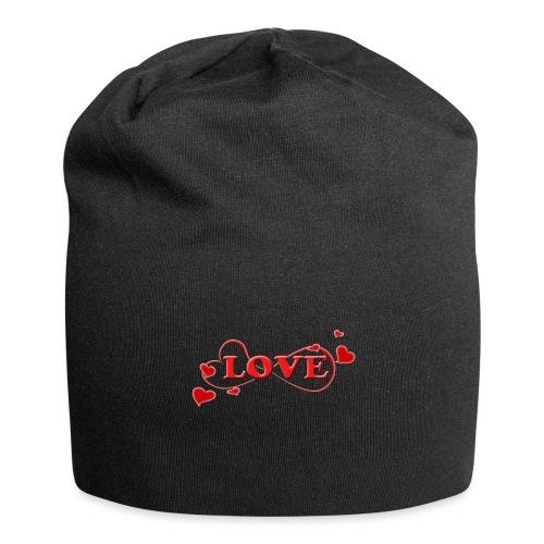 Love forever mit Herzchen, Valentinstag, Liebe - Jersey-Beanie