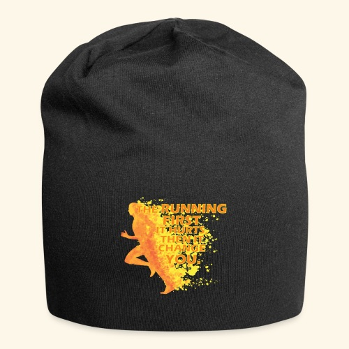 Motivo _ The Running First it Hurts - Beanie in jersey