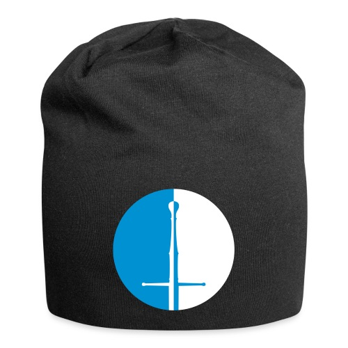 Design Logo zweifarbig - Jersey-Beanie