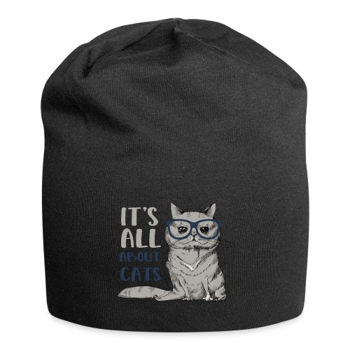 Coole Katze: It's All About Cats - Jersey-Beanie