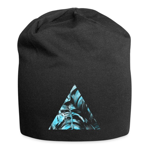 Blue Leaves Triangle - Jersey-Beanie