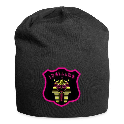 Pharaon Noir, Rose, Jaune hyper design - Bonnet en jersey