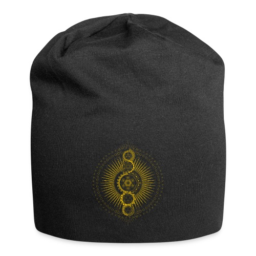Sacred Geometry Metatron's Cube Gold Transcendence - Jersey Beanie