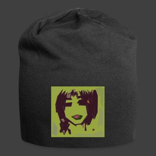 Green brown girl - Jersey Beanie