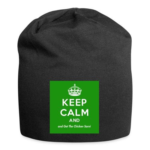 Keep Calm and Get The Chicken Sarni - Green - Jersey Beanie