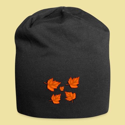 Herbstblätter - Jersey-Beanie