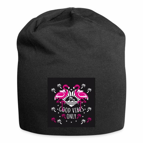 01 Flamingos Good Vibes Only Margarita Art - Jersey-Beanie