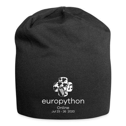 EuroPython 2020 - Vertical White Logo - Jersey Beanie