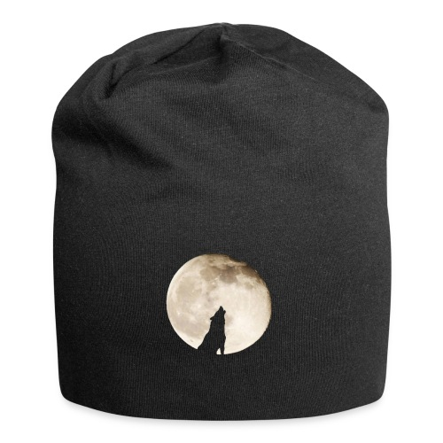 The wolf with the moon - Bonnet en jersey