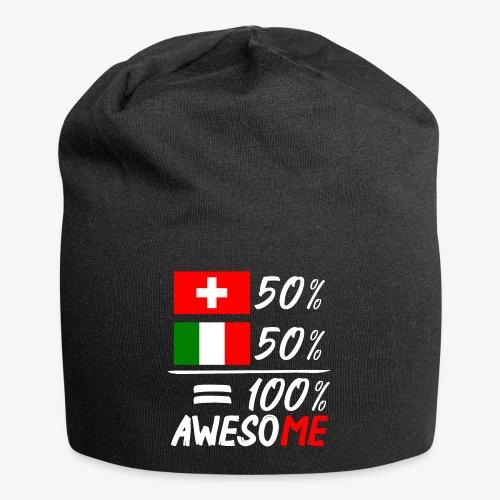 50% Schweiz 50% Italien - Jersey-Beanie