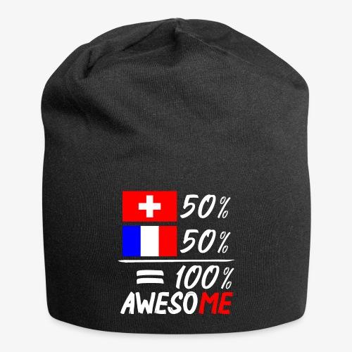 50% Schweiz 50% Frankreich - Jersey-Beanie