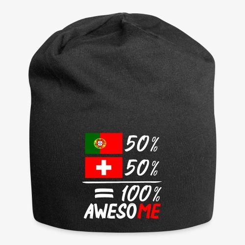 50% Portugal 50% Schweiz - Jersey-Beanie