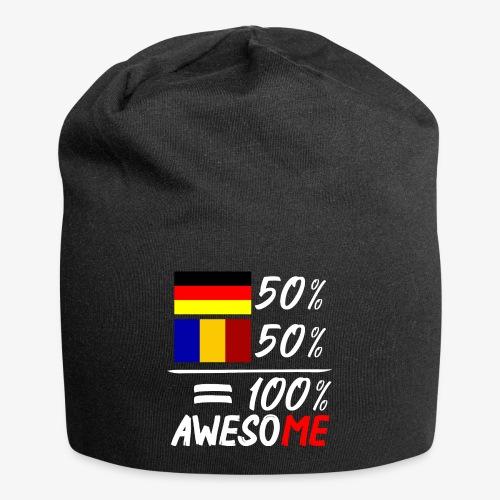50% Deutsch 50% Rumänisch - Jersey-Beanie