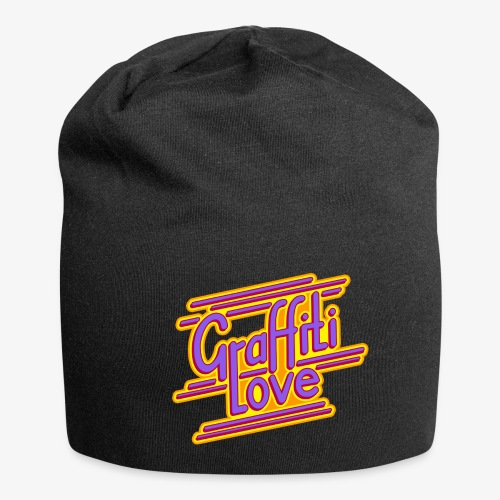 graffiti love type1 redviolet - Jersey-Beanie