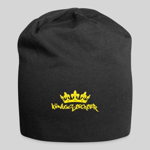 Königstochter m. Krone über der stylischen Schrift - Jersey-Beanie
