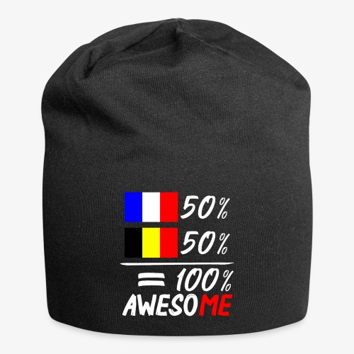 50% Frankreich 50% Belgien - Jersey-Beanie