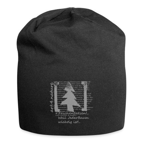 art.4.nature / Tree-Shirt weiss - Jersey-Beanie