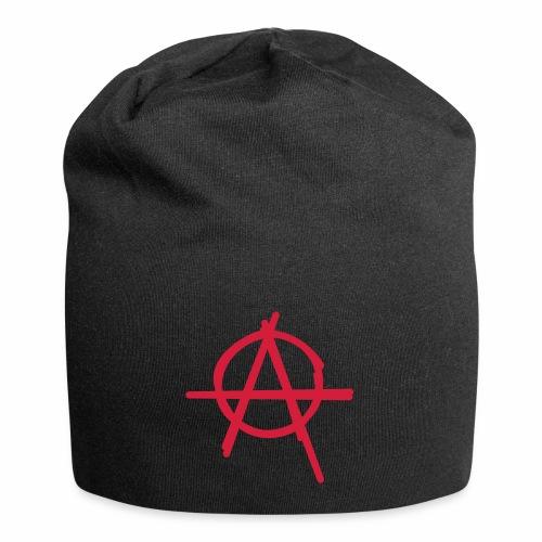 Anarchie Symbol Anarchy Zeichen Punk Logo A Icon - Jersey-Beanie