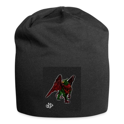 Grifone verde-rosso - Beanie in jersey
