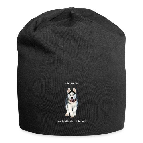 Husky Welpen mit bezaubernden Augen - Jersey-Beanie