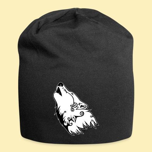 Le Loup de Neved (version contour blanc) - Bonnet en jersey