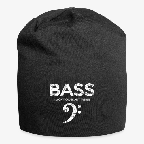 BASS I wont cause any treble (Vintage/Weiß) - Jersey-Beanie