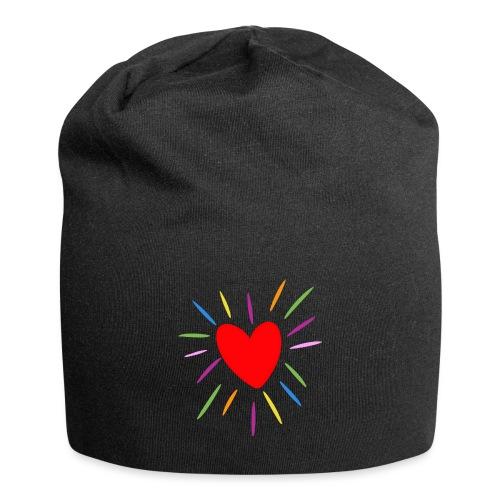 Heart - Gorro holgado de tela de jersey