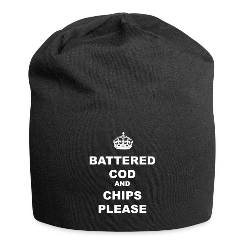 BATTERED COD AND CHIPS PLEASE - Jersey Beanie