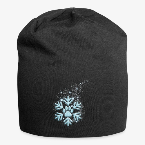 dog paw snowflake - Jersey-Beanie