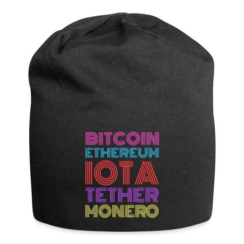 Retro Crypto | Bitcoin, Ethereum, IOTA, Tether - Jersey-Beanie