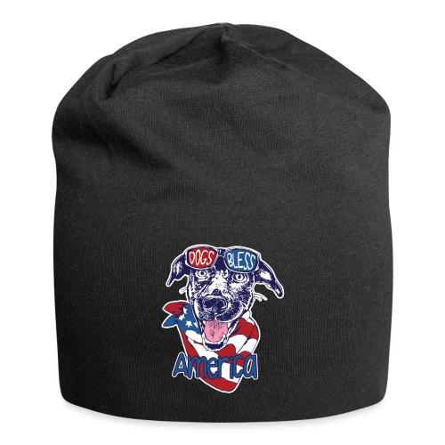 Hund und Hunde segnen Amerika Illustration - Jersey-Beanie