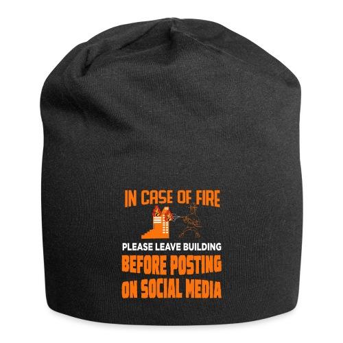 Wenn es brennt das Gebäude verlassen ohne posten - Jersey-Beanie