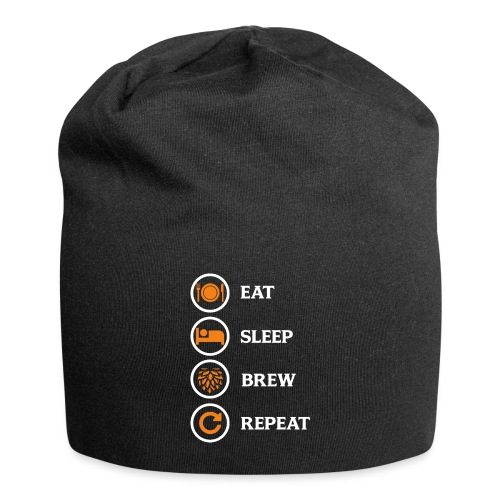 Eat Sleep Brew Repeat Brewers Gift - Jersey Beanie