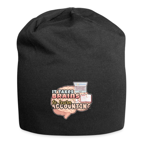 Accountant Takes Brains to Learn Accounting Degree - Jersey Beanie