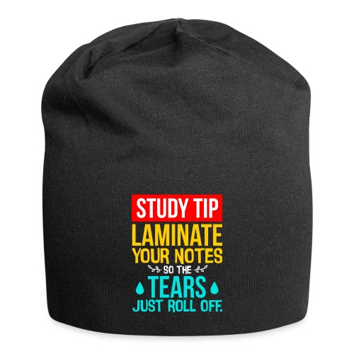 Fun Student Gift Study Tip Laminate Notes so - Jersey Beanie
