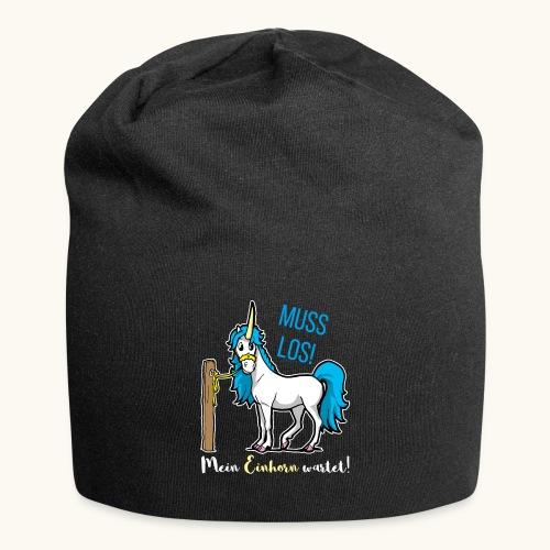 Dessin drôle de licorne disant bande dessinée cadeau - Bonnet en jersey