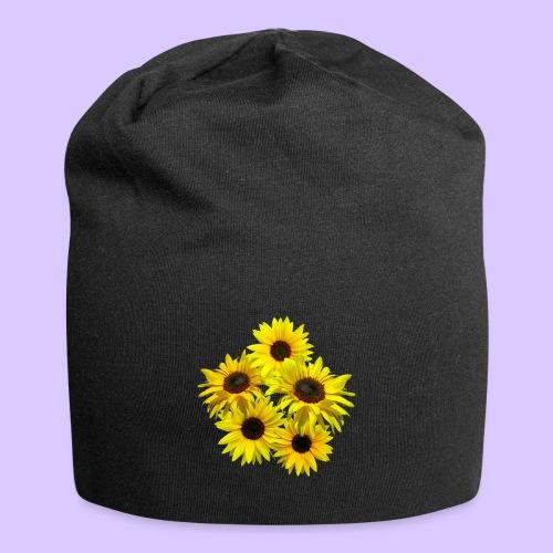 Sonnenblumenstrauss, Sonnenblume, Sonnenblumen - Jersey-Beanie
