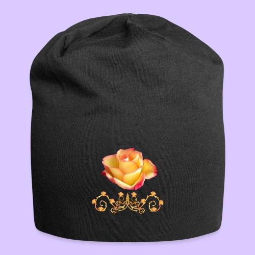 orange Rose, Ornament, Rosen, Blumen, Blüten, edel - Jersey-Beanie