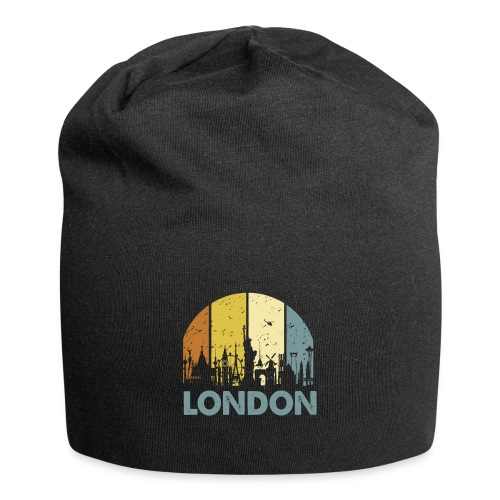 Vintage London Souvenir - Retro Skyline London - Jersey-Beanie