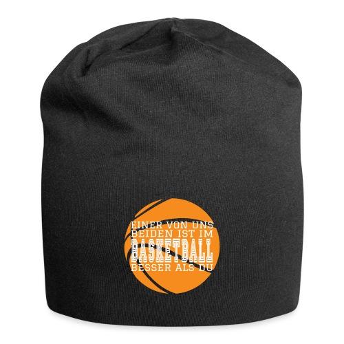 Basketballspruch Geschenke Besser im Basketball - Jersey-Beanie