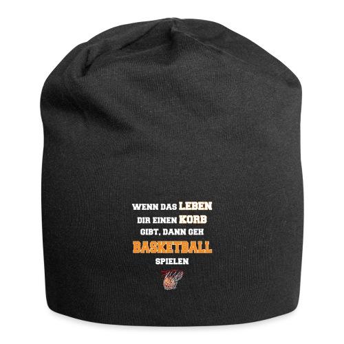 Basketballspruch wenn das Leben Korb Basketball - Jersey-Beanie