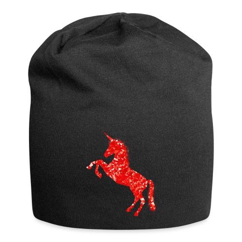 unicorn red - Czapka krasnal z dżerseju